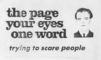 The Page, Your Eyes, One Word: Trying to Scare People